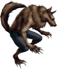 Fictional character illustration clip art, image, werewolf