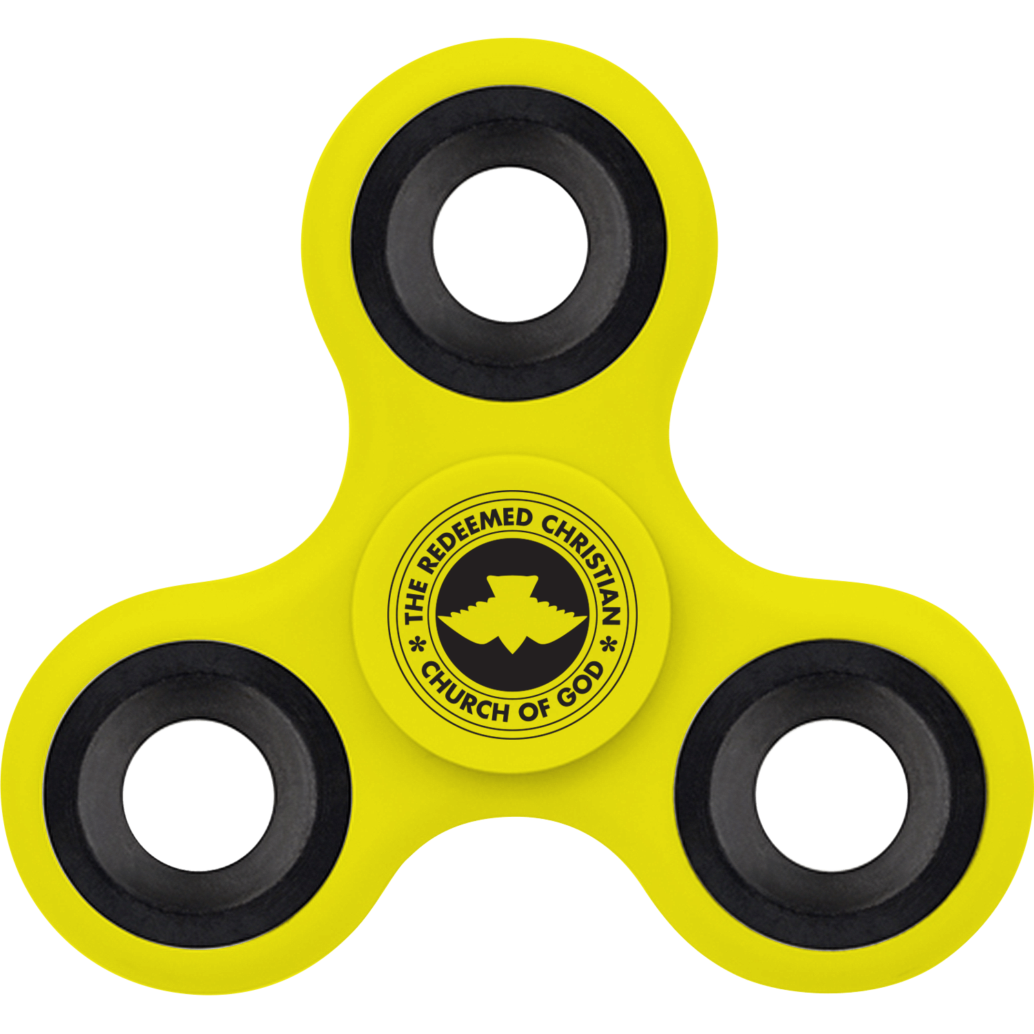 Fidget Spinner Emblem Yellow Picture