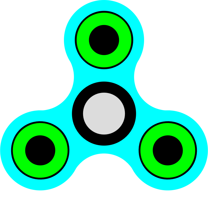 Fidget Spinner pistachio green and light blue transparent background Picture