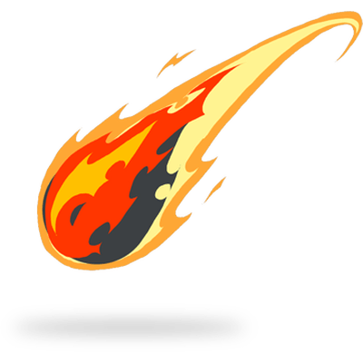 Fiery Comet Fireball PNG Images image #48503