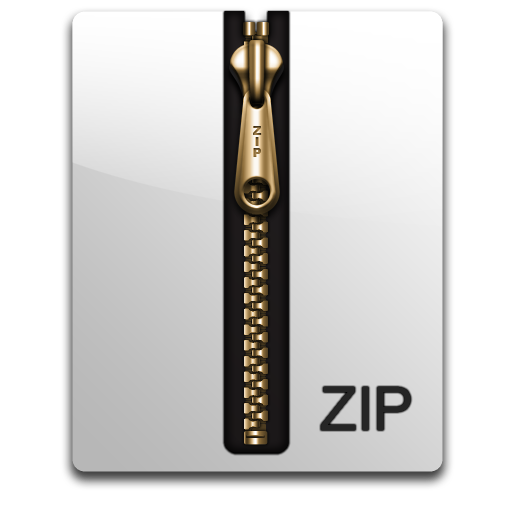 Vector File Zip Icon