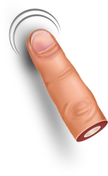 Finger One Png image #43104