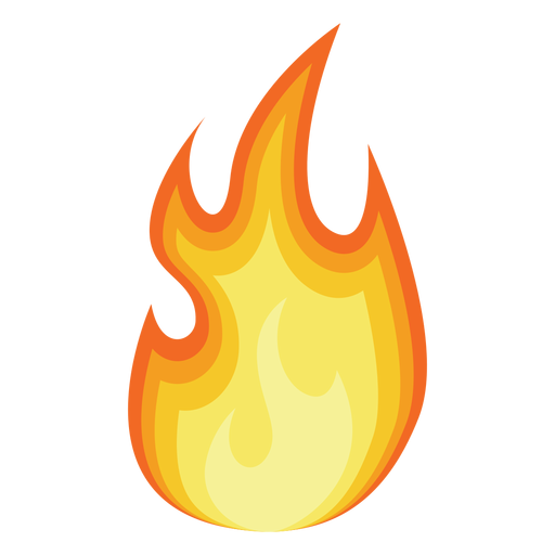Fire Cartoon Silhouette Transparent PNG image #44285
