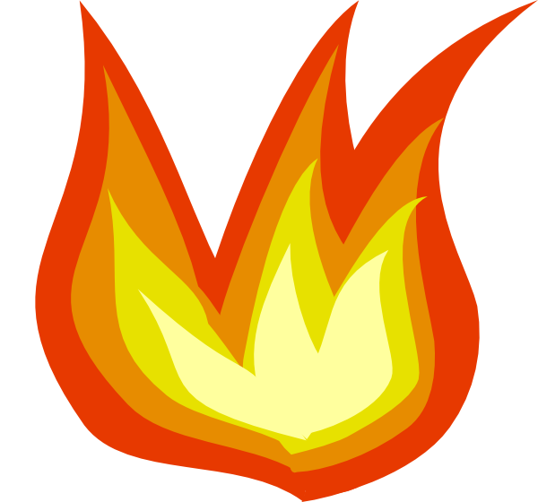 Fire Flame Cartoon Png image #4869