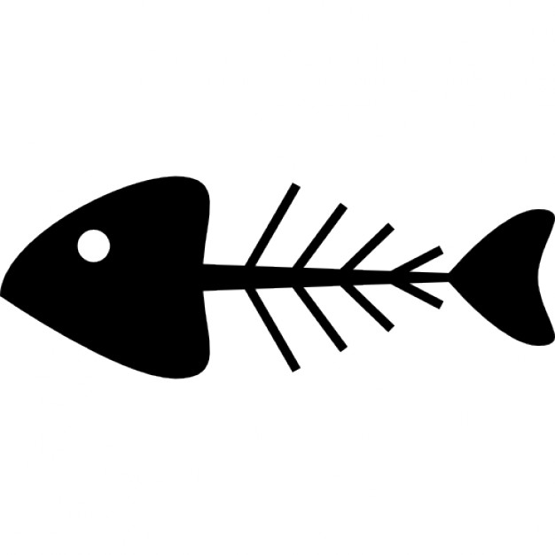 Fish Bone Icon Png Transparent Background Free Download 5291 Freeiconspng