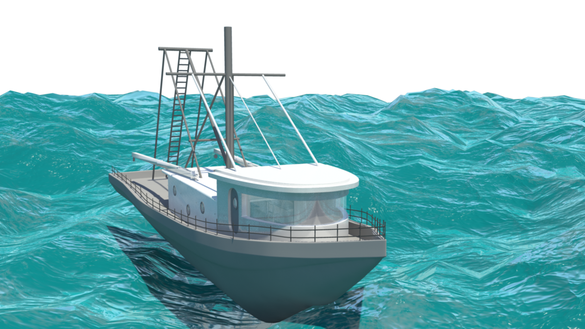Fishing Boat Model Png