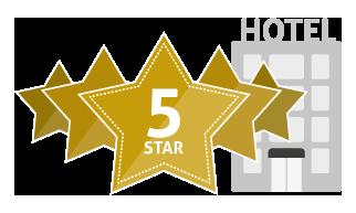 Five 5 Star Hotel Icon