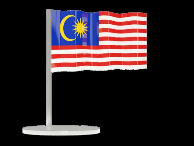 Flag pin flag icon of Malaysia