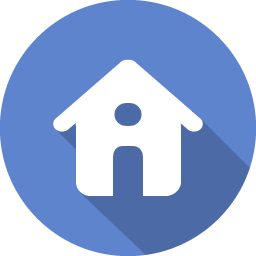 flat blue home icon