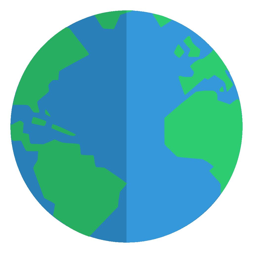 flat globe icon