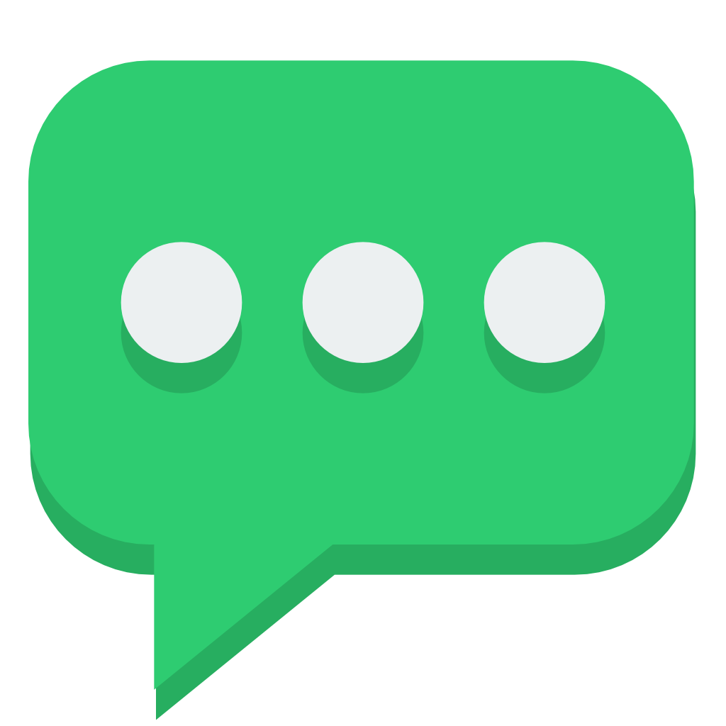 Flat Green Bubble Icon image #40266