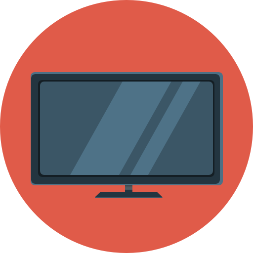 Flat Television, Tv Icon Png image #40268