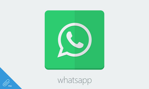 Flat Whatsapp Icon image #3958