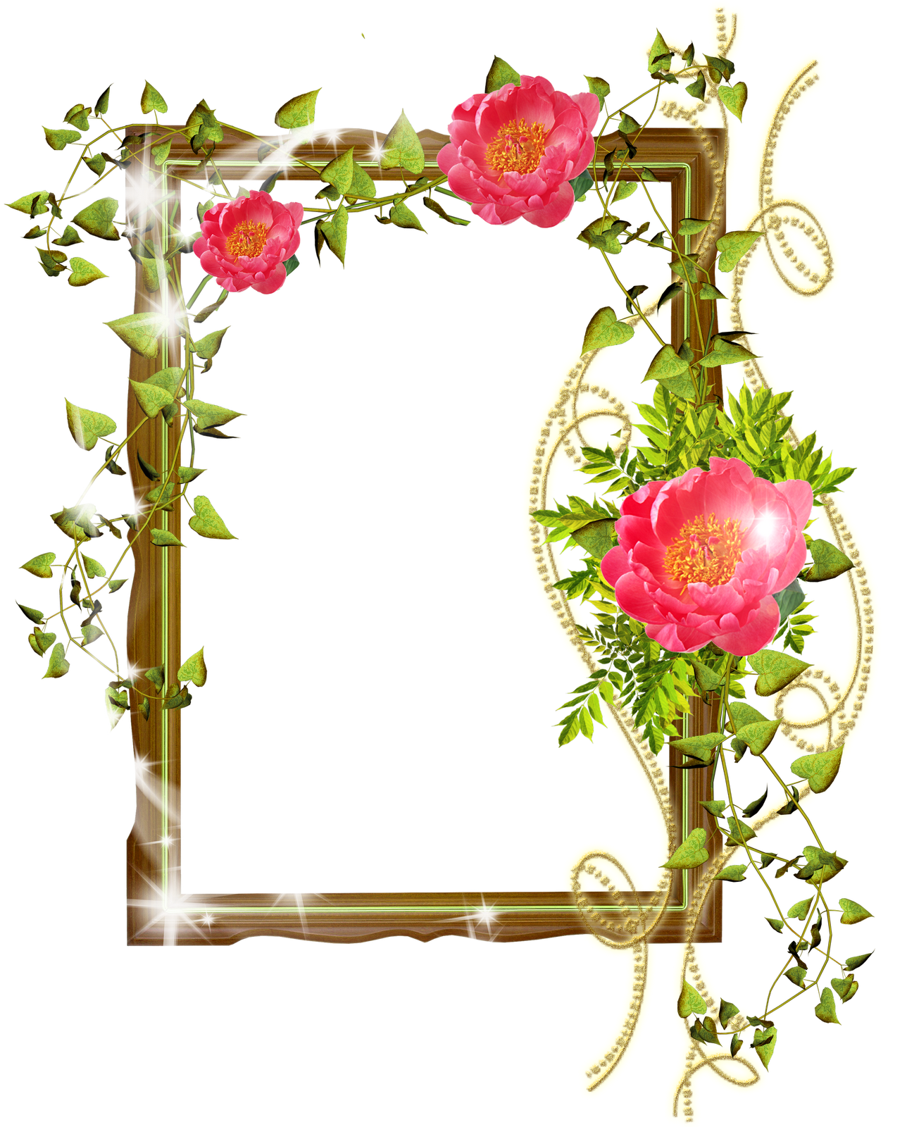 Flower Frame Photoshop Background Png image #24722
