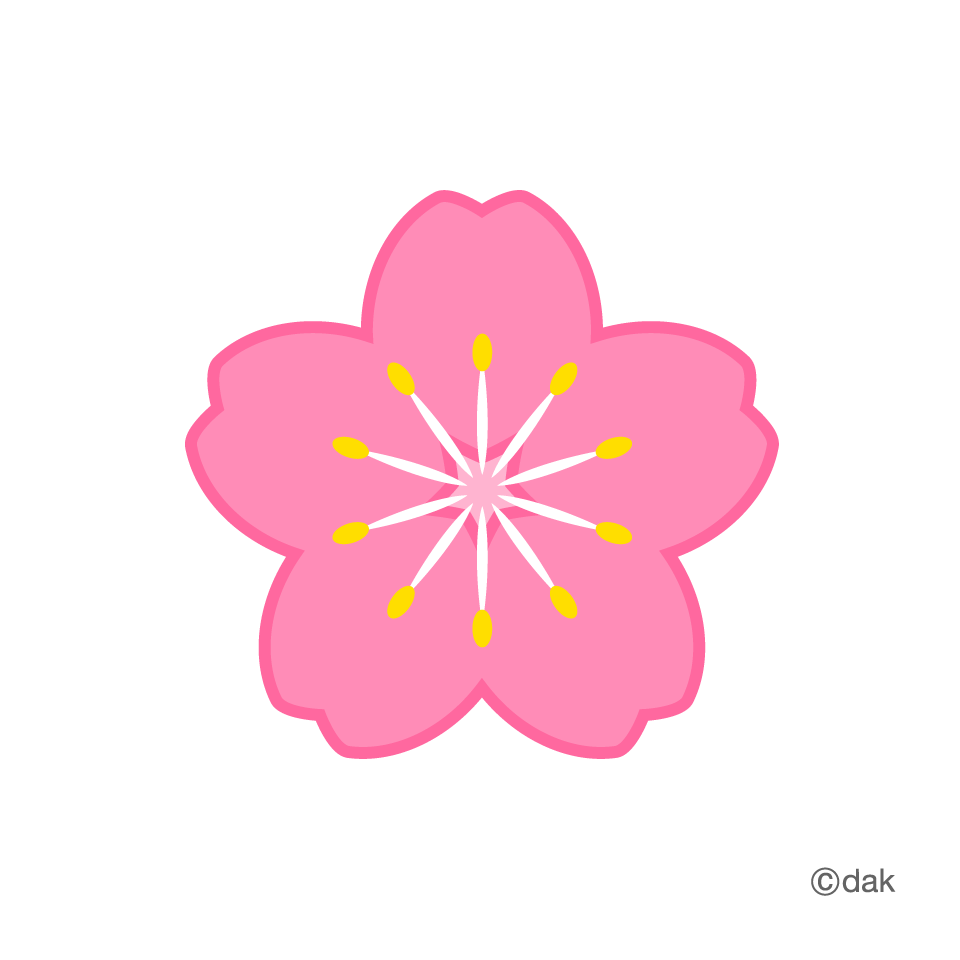 Flower Symbol Of The Cherry Tree|Pictures Of Clipart And Graphic  image #2125