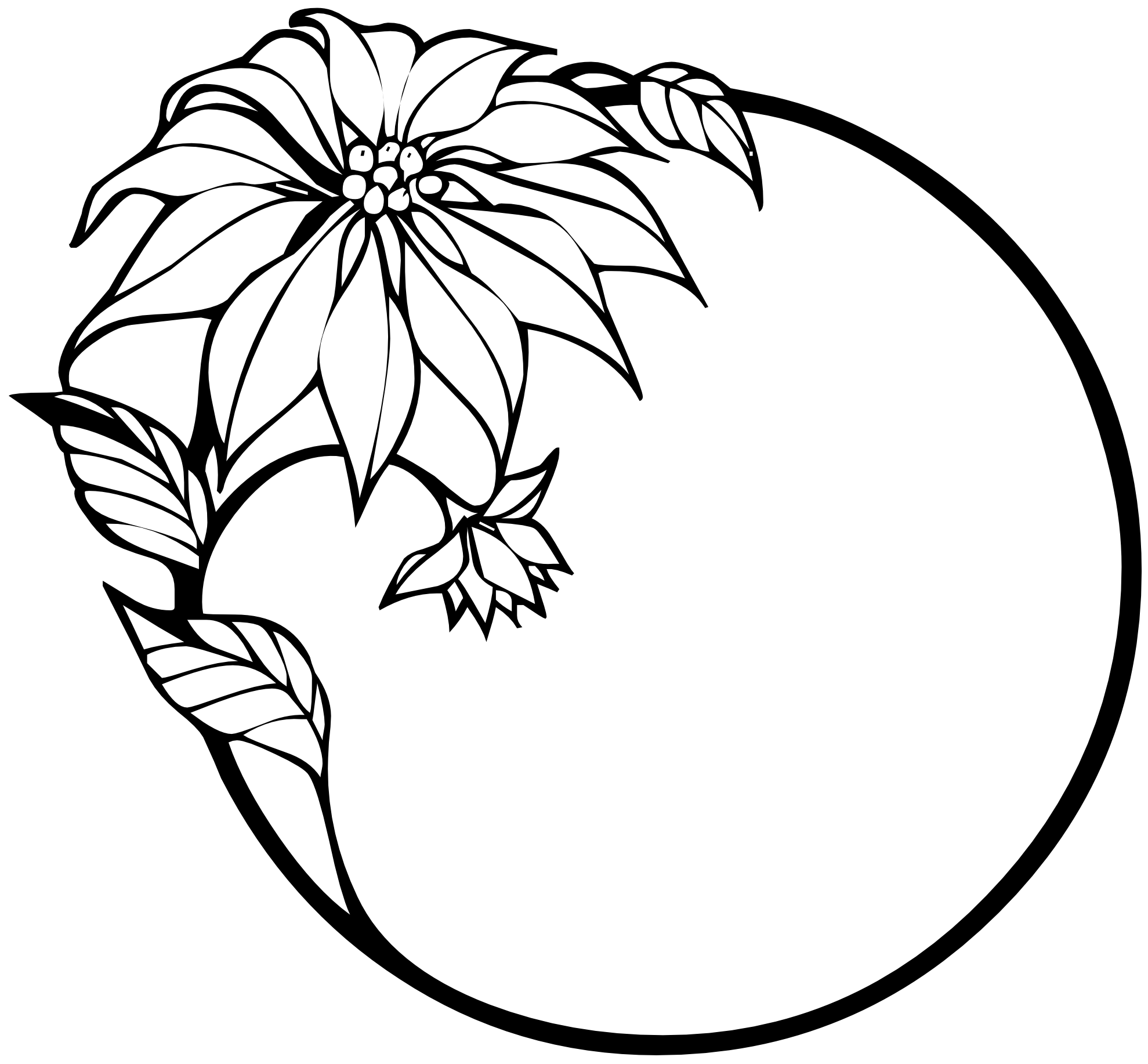 Line Art House Png : Flower black and white transparent png pictures free