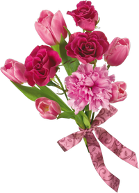 Flowers, Spring Bouquets Tulips Png image #43169