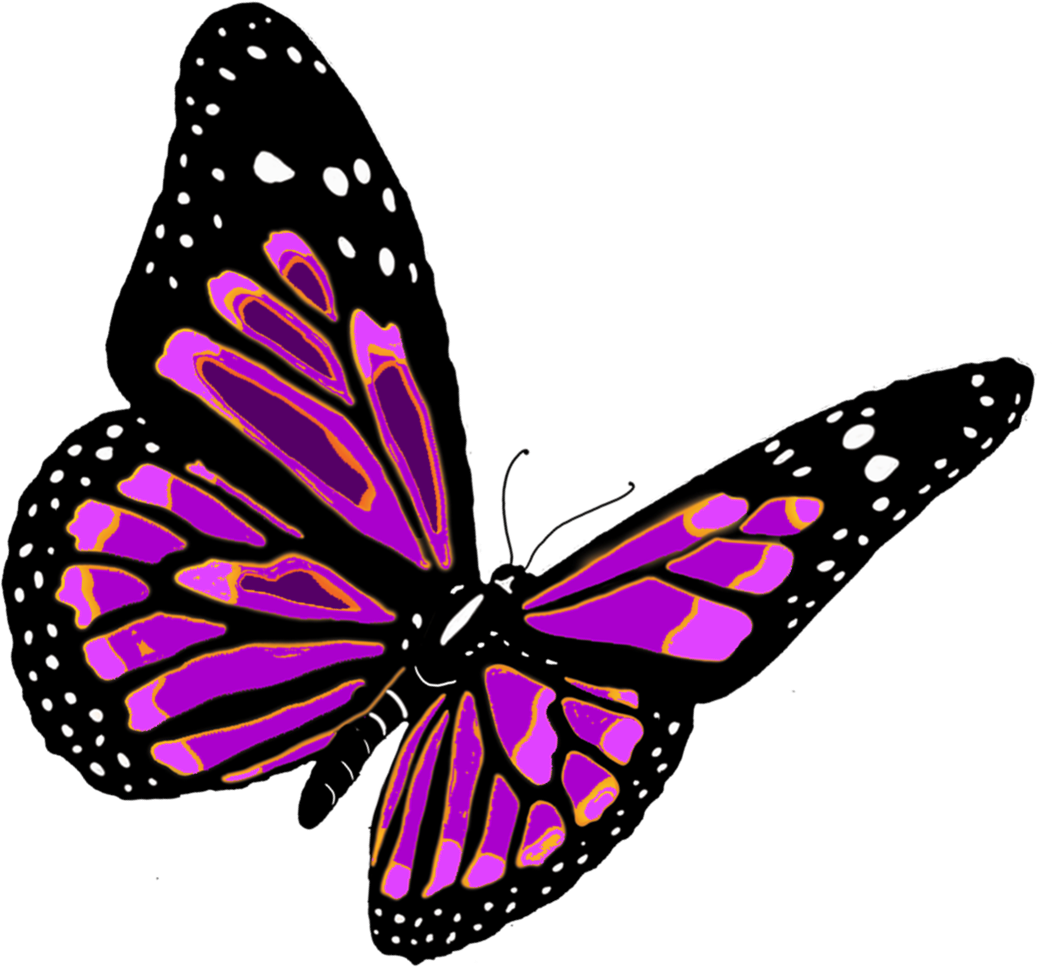 Flying Purple Butterfly PNG image #6721