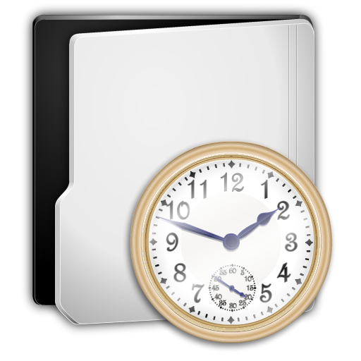 Folder History Icon Png image #4658