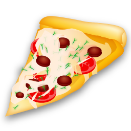 Food Pizza Slice Icon image #25587