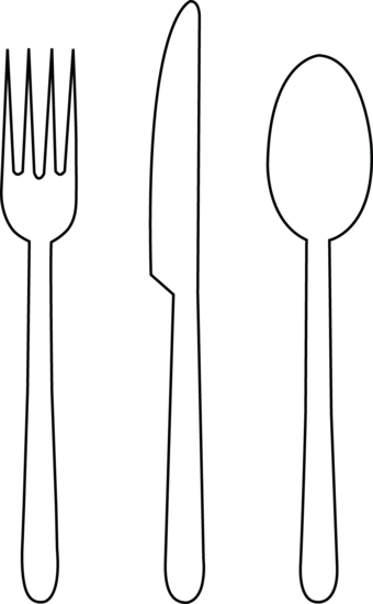 Fork Knife Spoon Outline image #3684