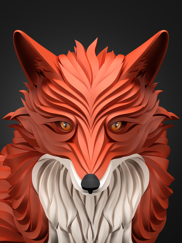 Fox 3d Animal download 3d animal PNG images