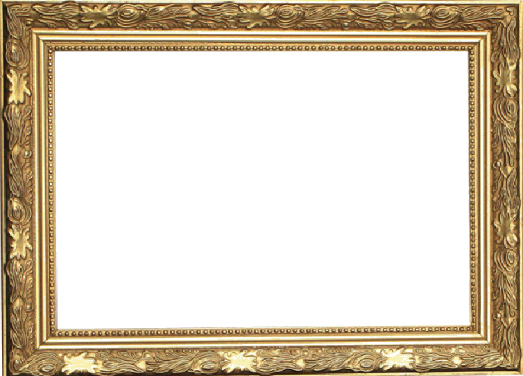 Fancy gold frame stock image Image of frame painted