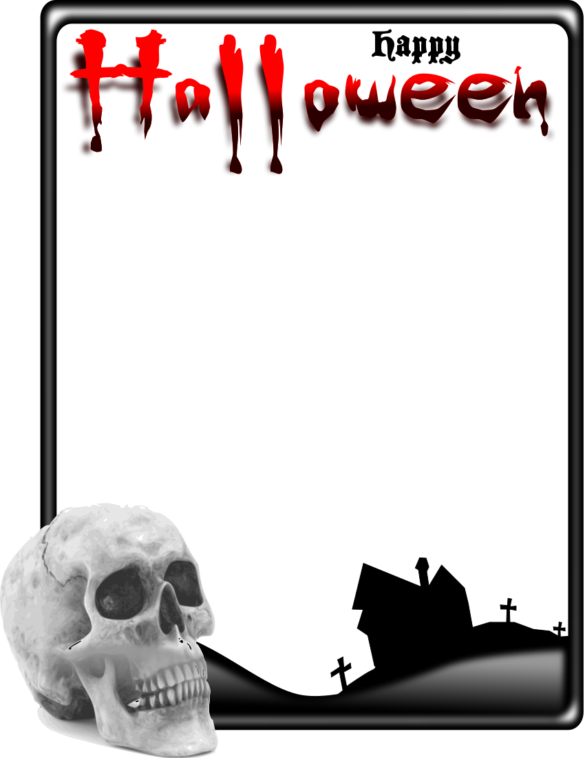 Frame Halloween Photo PNG image #31327