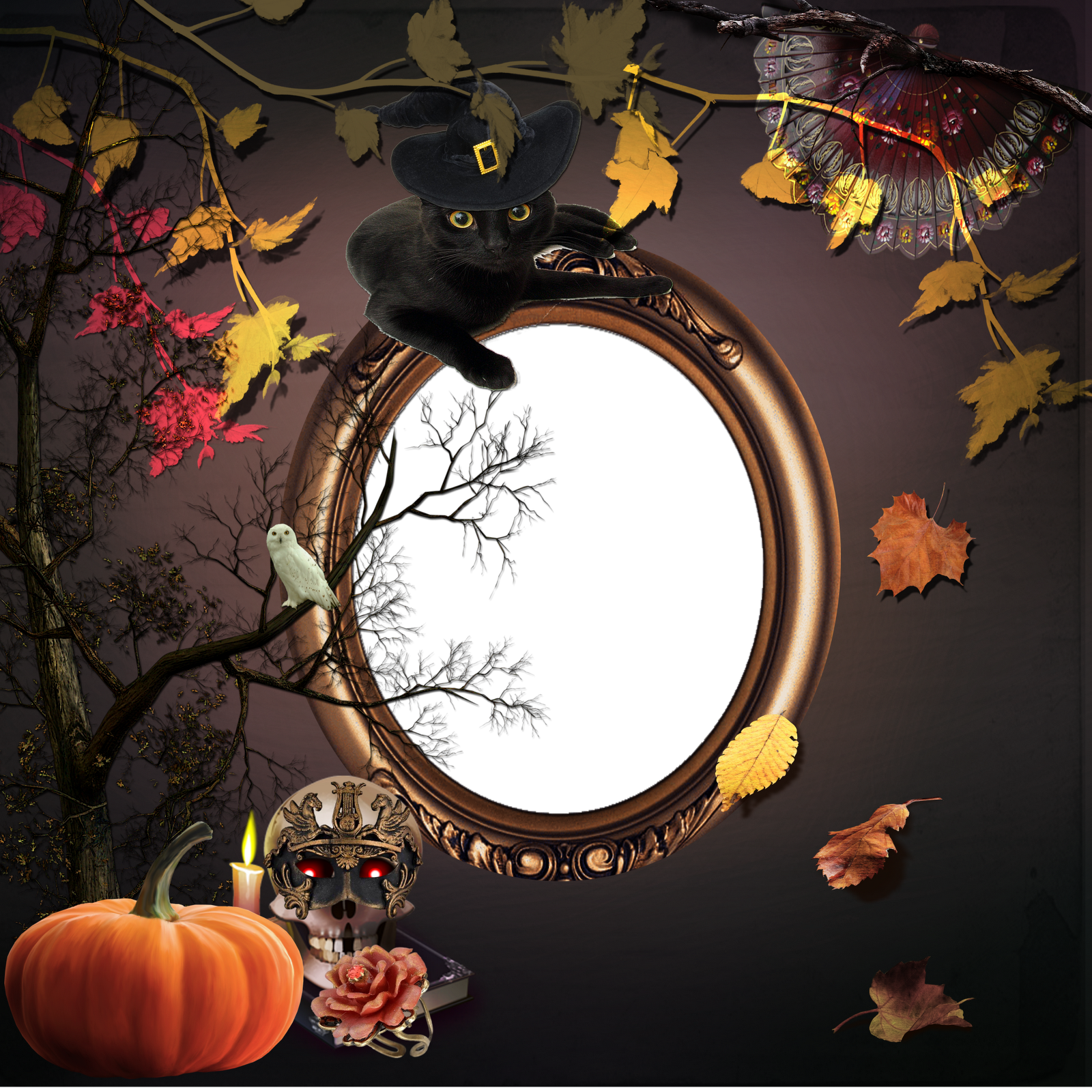 Transparent Background Frame Halloween Png image #31344
