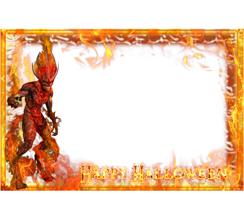 PNG Picture Frame Halloween image #31321