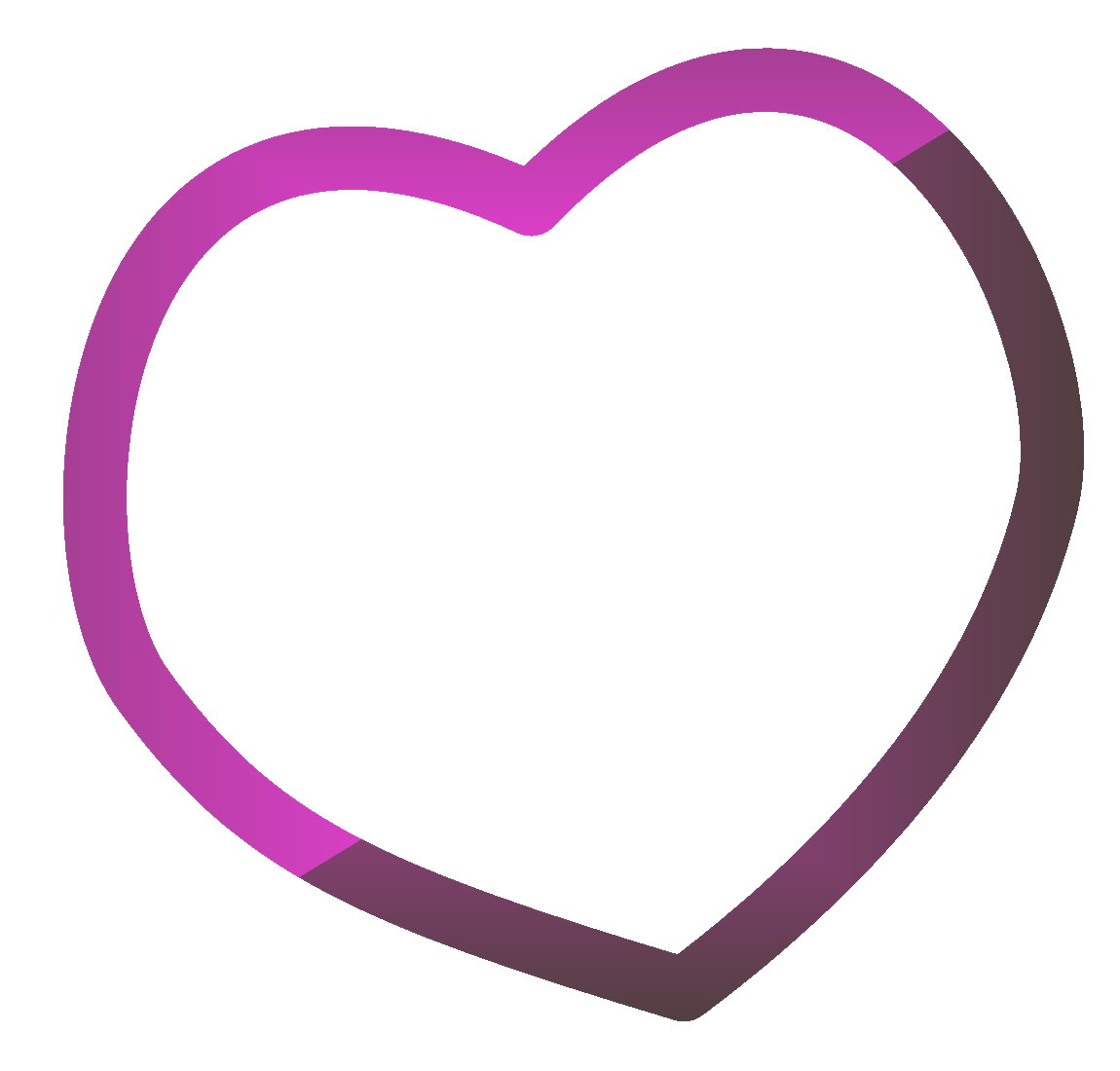 High Resolution Frame Heart Png Icon