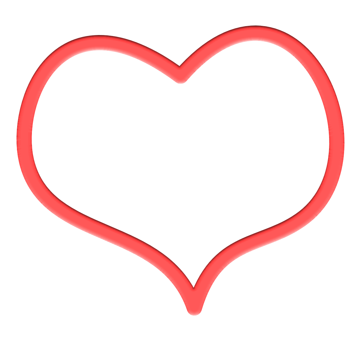 Frame Heart HD PNG image #31004
