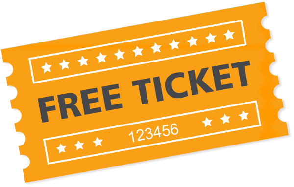 Free Ticket Transparent Background