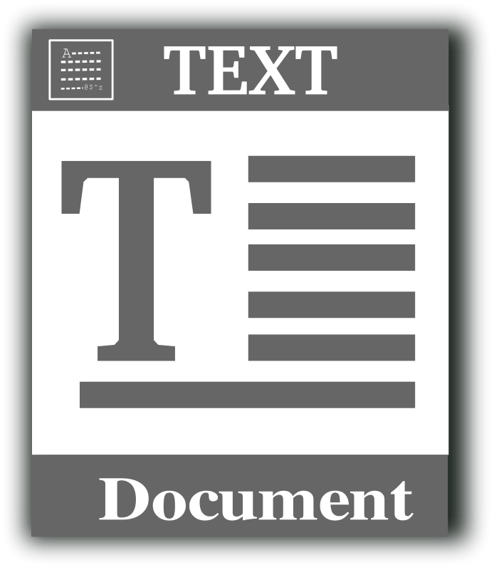 free vector text file icon 100713 Text file icon
