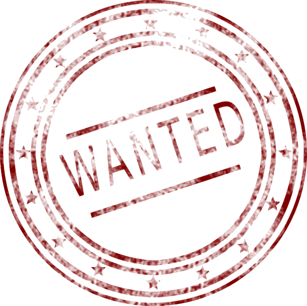 Free Wanted Stamp Png image #24413