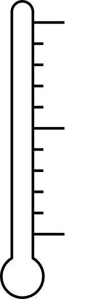 Fundraising Thermometer Png image #30911