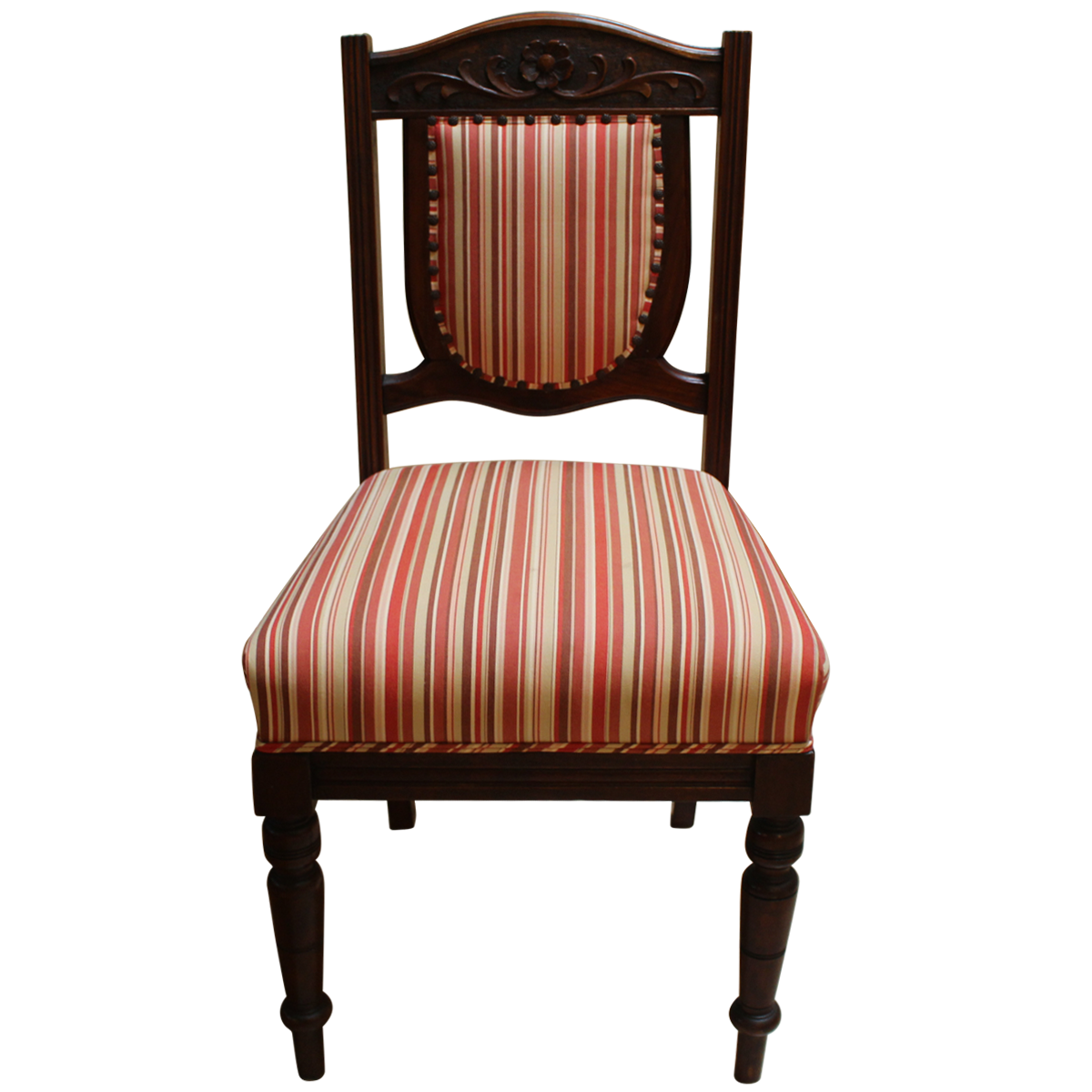 Wooden chair front view - Furniture Seating Vintage Wooden Striped Chairs Image 41446