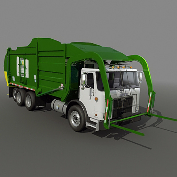 Garbage Truck Icons No Attribution image #24326