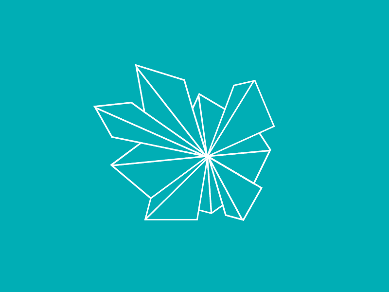 geometric origami icon by linda danh dribbble
