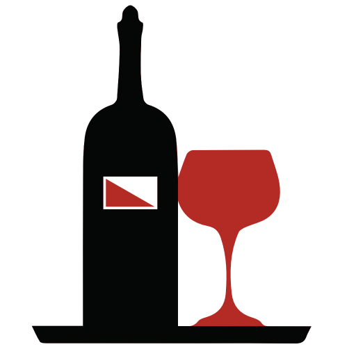 Glass and bottle of wine icon