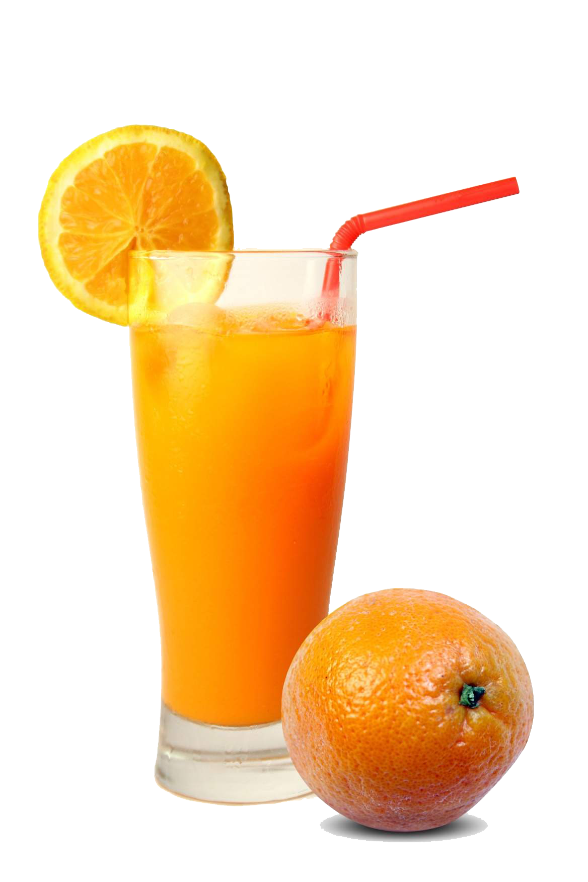 Glass With Orange Juice PNG image #39484