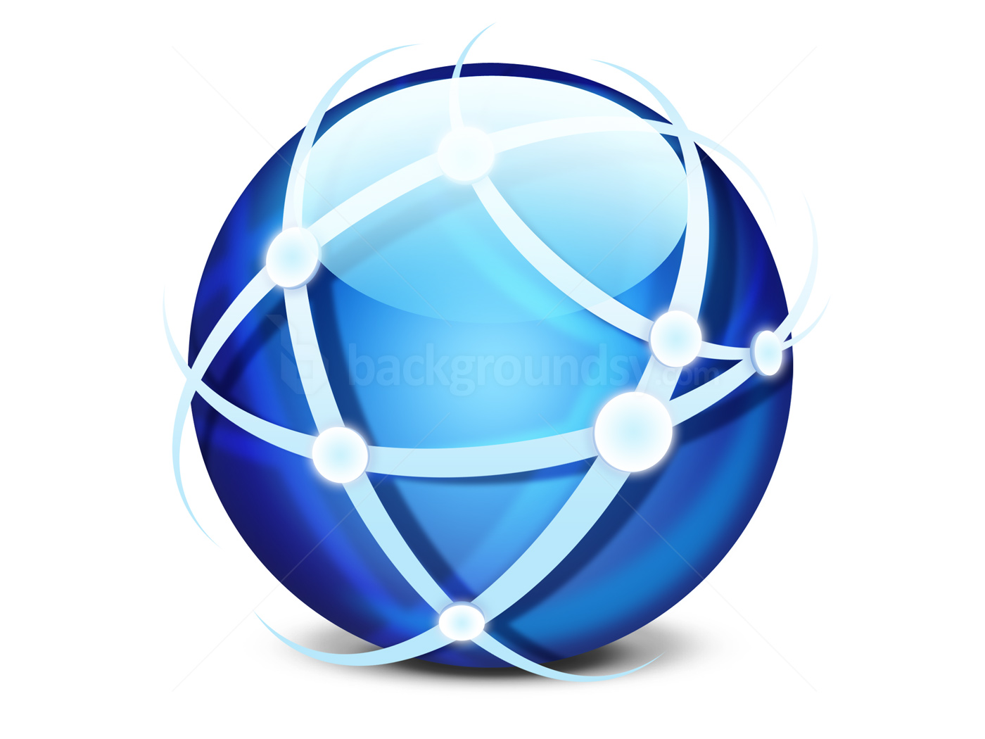 Global Network Icon (PSD) | Backgroundsym image #1912