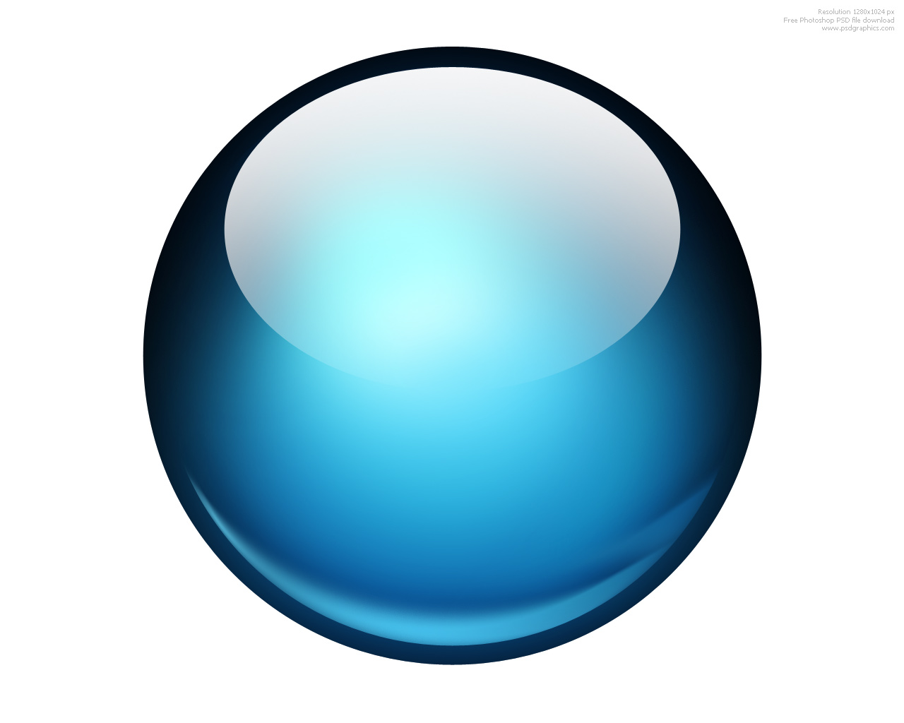 Glossy ball blue icon