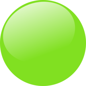 glossy ball green png