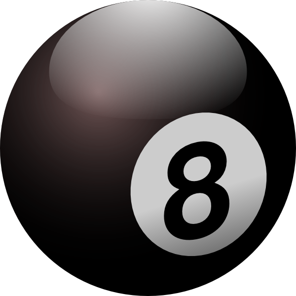 glossy eight ball png