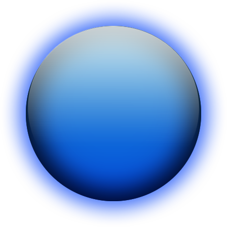 Glowing Blue Orb Png image #25372