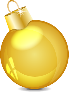 Gold Ball, Baubles, Christmas Png image #32850