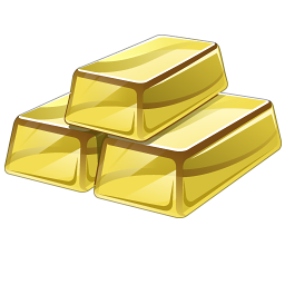 Gold Bars Icon Png image #41012