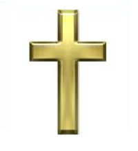 Gold Christian Cross Png image #25658
