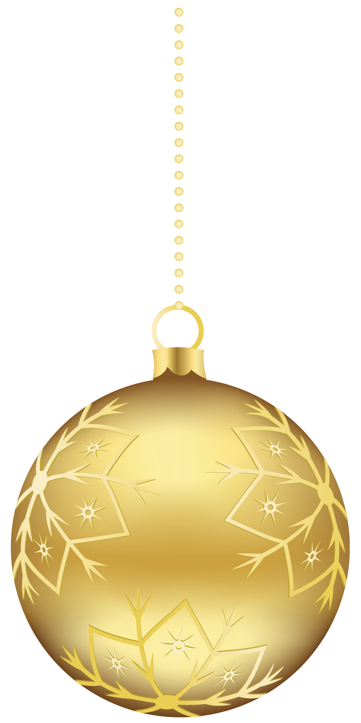 Gold Christmas Ornaments PNG Clipart